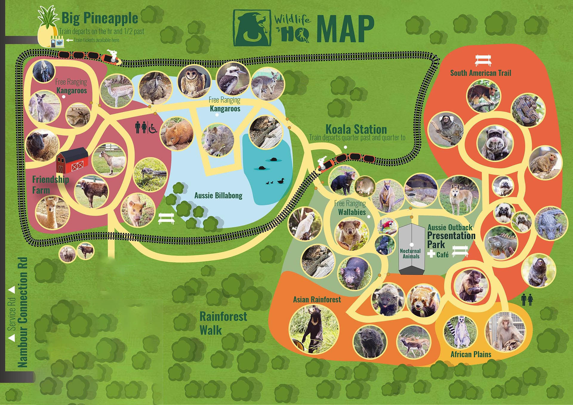 Australia Zoo Map 2018.Plan Your Visit Wildlife Hq