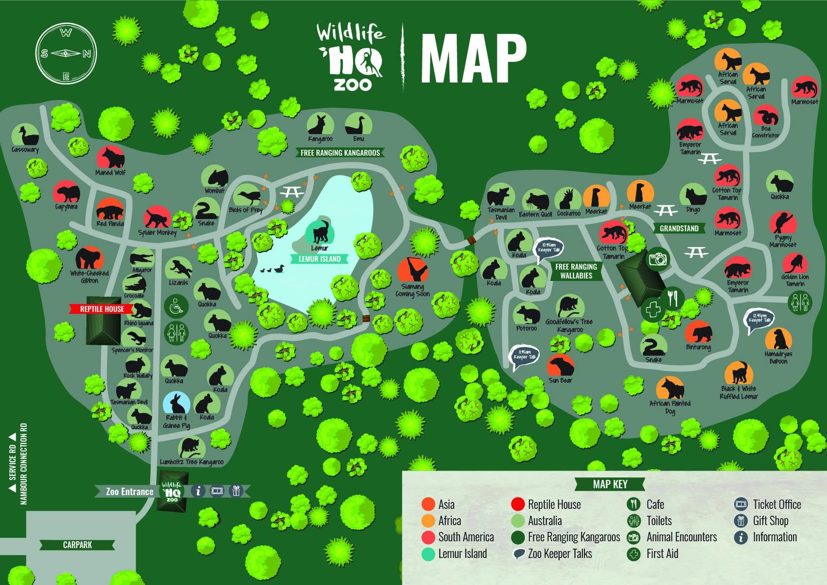 Wildlife HQ Zoo Map
